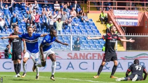 Duvan Zapata scores