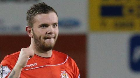 Portadown striker Darren Murray