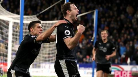 Ashley Barnes celebrates goal