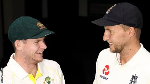 Australia captain Steve Smith and England skipper Joe Root