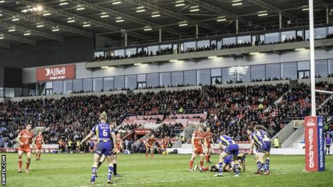 General view of play at AJ Bell Stadium
