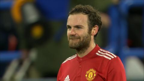 Juan Mata's goal was ruled out via VAR