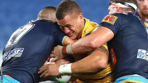 Gold Coast Titans v Parramatta Eels in Australia's NRL