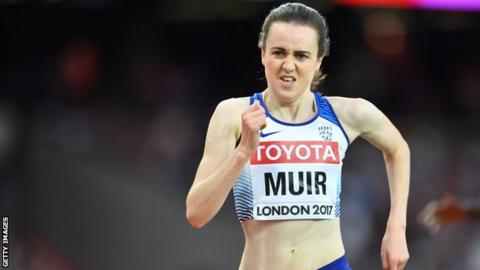 Britain's Laura Muir