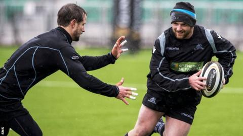 Nick Grigg in Glasgow Warriors training