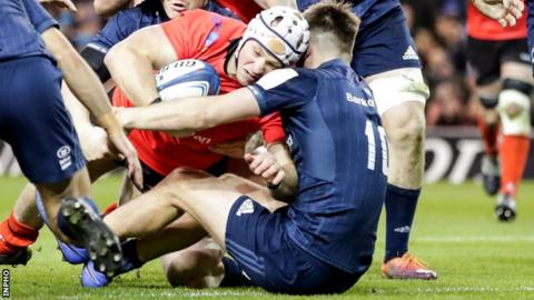 Luke Marshall's try against Leinster was his 22nd senior try for Ulster