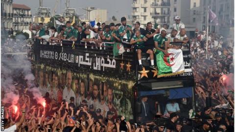 Algeria victory parade