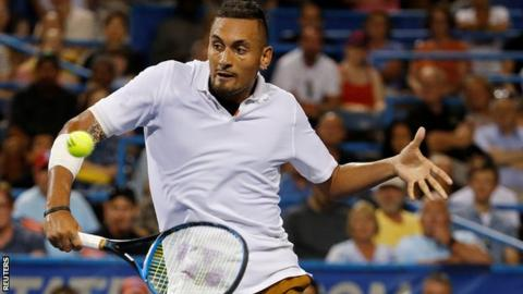 Kyrgios has been involved in several altercations with officials during his career