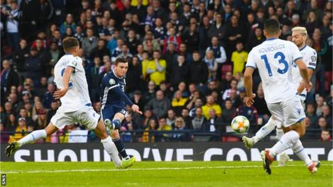 Andy Robertson fires Scotland into the lead at Hampden