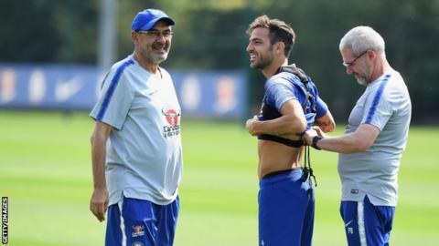 Fabregas willing to extend stay at Chelsea under Sarri