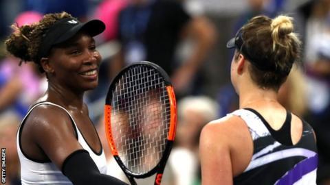 Venus Williams (left) and Elina Svitolina