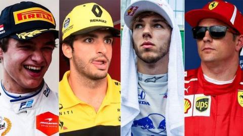 Norris, Sainz, Gasly, Raikkonen