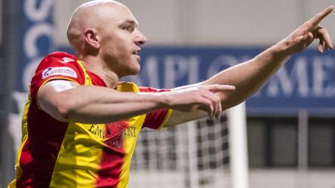 Conor Sammon celebrates scoring