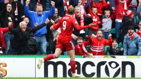James Wilson's fourth goal of last season came in the final-day win over Hibs