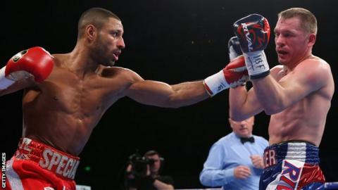 Kell Brook punches Kevin Bezier