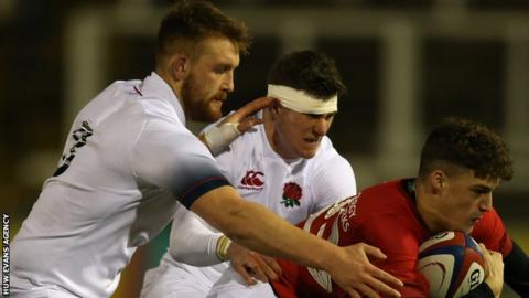 Sam Moore played for England Under-20s v Wales Under-20s in the 2018 Six Nations