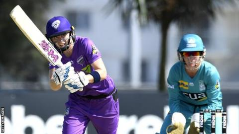 Heather Knight hits out for Hobart Hurricanes