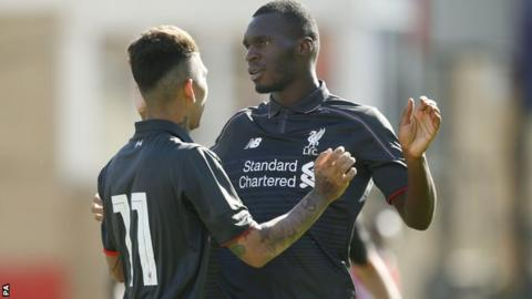 Christian Benteke (right)