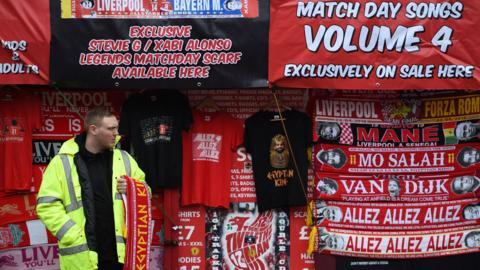 Liverpool merchandise on sale