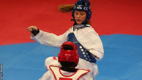 Amy Truesdale fights at the World Para Taekwondo Championships 2017