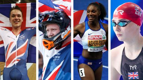 GB athletes Hayter, Evans, Asher-Smith and Anderson