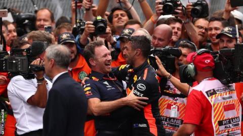 Christian Horner and Daniel Ricciardo