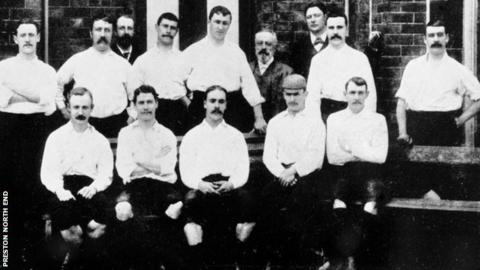 Preston North End's 'Invincibles' team of 1888-89.