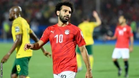 Egypt forward Mohamed Salah reacts during his side's defeat to South Africa at the Africa Cup of Nations