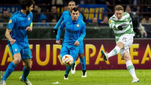Celtic played Inter Milan in the 2014-15 Europa League