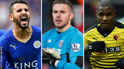 Riyad Mahrez, Jack Butland and Odion Ighalo