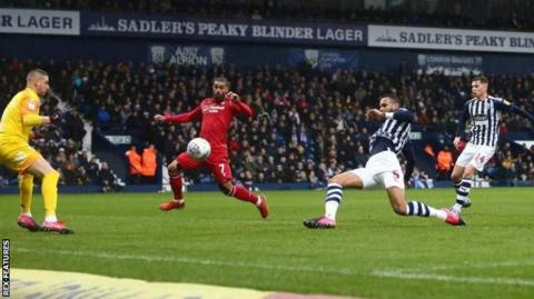 West Brom's Kyle Bartley puts through his own net to bring Nottingham Forest level