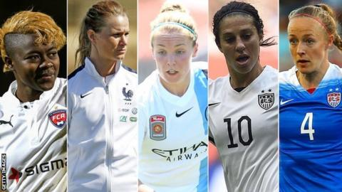 BBC Women's Footballer of the Year: Five vie for award - BBC