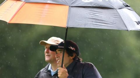 Heavy rain has caused as delay to the start of the first round at Galgorm Castle