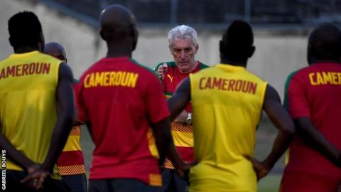 Cameroon coach Hugo Broos stands united with his players and staff