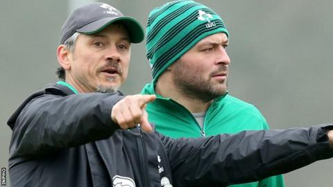 Les Kiss and Rory Best