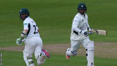 Neither of Worcestershire's two centurions Daryl Mitchell (left) and Brett D'Oliveira had previously passed 50 in first-class cricket so far this season
