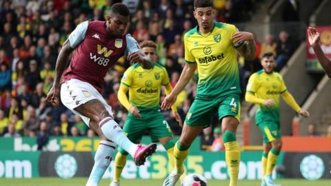 Norwich City 1-5 Aston Villa: Visitors out of bottom three after superb display