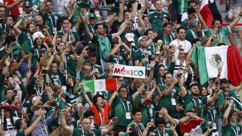 Mexico fans in Russia