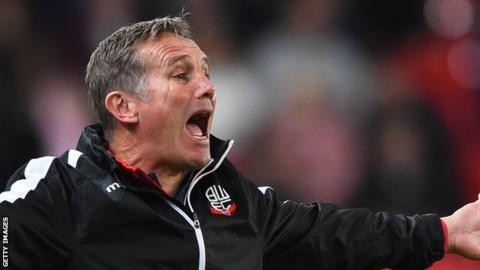 Phil Parkinson has won 44 of his 119 games in charge of Bolton Wanderers