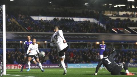 Aleksandar Mitrovic scores Fulham's goal at Brimingham