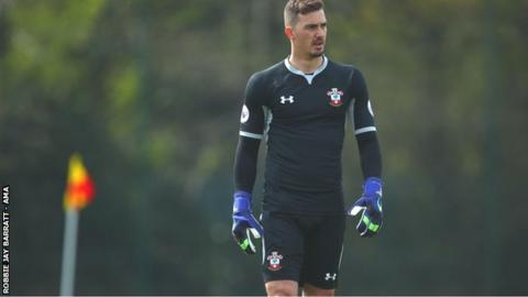 Jack Rose in action for Southampton Under-23s against West Brom in April