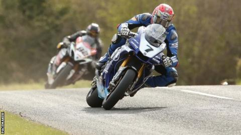 Dan Kneen was on winning form on his Mar-Train Yamaha at the Tandragee 100