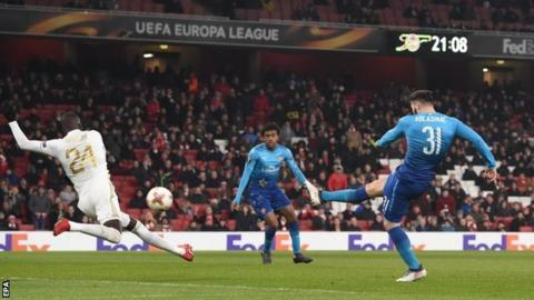 Arsenal 1 2 ostersunds fk 4 2 agg bbc sport sead kolasinac publicscrutiny Images