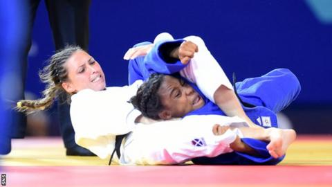 Kimberley Renicks competing during the Glasgow 2014 Commonwealth Games