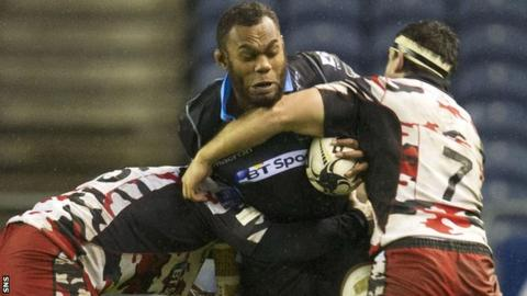 Glasgow Warriors against Edinburgh