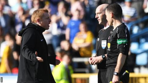 Neil Lennon and Bobby Madden