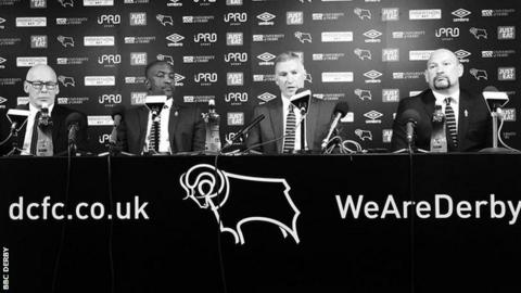 Mel Morris, Chris Powell, Nigel Pearson and Sam Rush