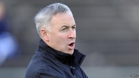 Antrim football manager Lenny Harbinson