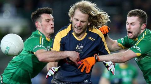 Ireland beat Australia 56-52 in the last match at Croke Park in November 2015