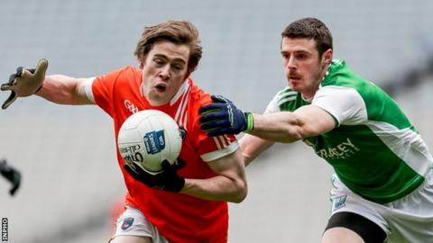 Armagh's Andrew Murnin scored the only goal in his side's Division Three final win against Fermanagh in March